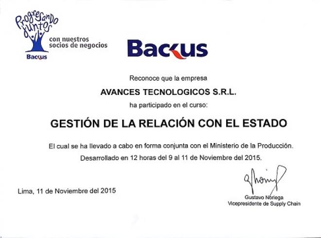 Avances Tecnológicos participó del Programa Progresando Juntos del Grupo Backus.